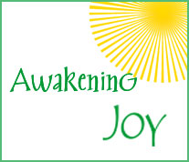awakening joy logo with sunburst